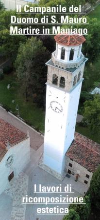 Il campanile del Duomo di san Mauro martire in Maniago