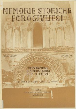 Memorie storiche forogiuliesi